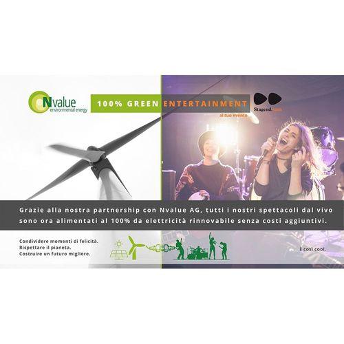 Energia rinnovabile per il tuo evento